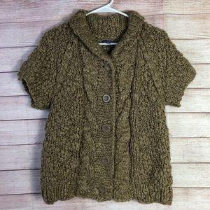 Vivienne Tam Warm Chunky Short Sleeve Sweater L